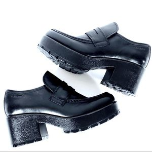 fb6636ea8505 Vagabond Shoes - VAGABOND DIOON Black Leather Platform Loafer 8